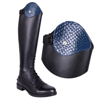 ADORNO BOTA INTERCAMBIABLE  ROMY CROCO NAVY 38 40