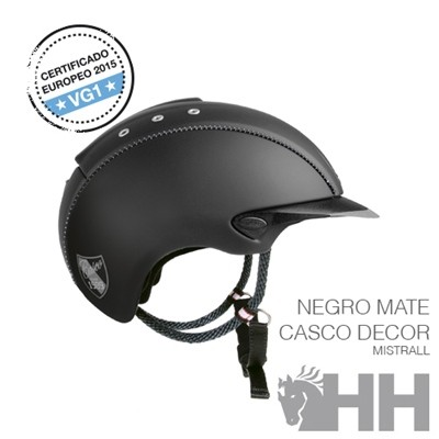 CASCO CAS CO MISTRALL NEW NEGRO  MATE CASCO DECOR M (57 58)