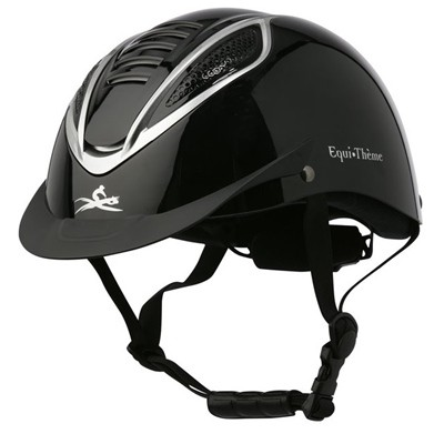 CASCO EQUI THEME CHROME NEGRO MATE L(57 61)