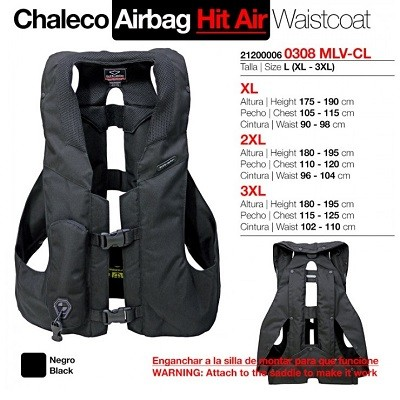 CHALECO AIRBAG HIT AIR ADULTO L