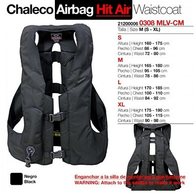 CHALECO AIRBAG HIT AIR ADULTO M