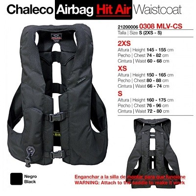 CHALECO AIRBAG HIT AIR ADULTO S