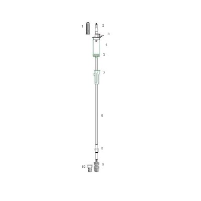 DISPOMEDIC INFUSION IV SET LUER LOCK