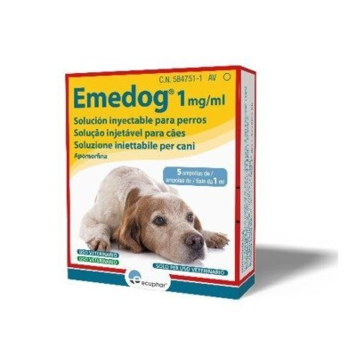 EMEDOG 1 MG ML ( 5 AMPOLLAS X 1 ML )