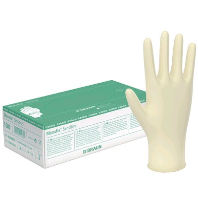 GUANTES MANUFIX SENSITIVE LATEX S POLVO T G