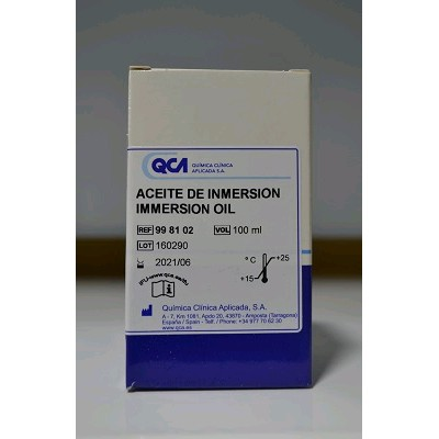 ACEITE DE INMERSION MICROSCOPIO 100 ML&quot