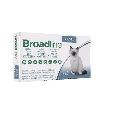 BROADLINE GATOS < 2,5 KG  3 APLIC