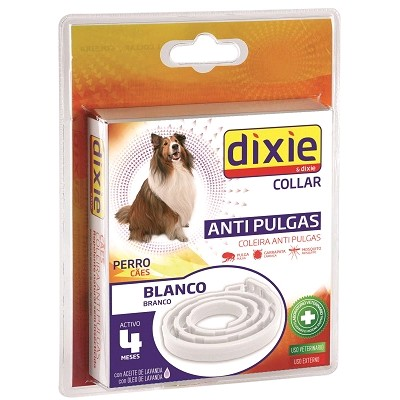 COLLAR ANTIPULGAS BLANCO DIXIE