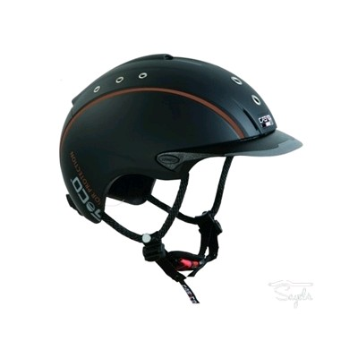 CASCO CAS CO MISTRALL NEGRO MATE RIBETE REFLECTANTE TALLA L