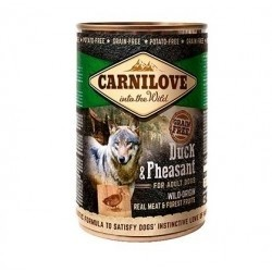 CARNILOVE WILD MEAT DUCK & PHEASANT 400 GRS