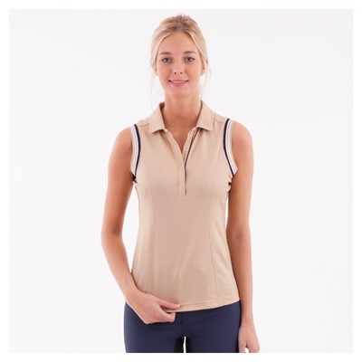 ANKY POLO SIN MANGAS MUJER LIGHT GOLD M