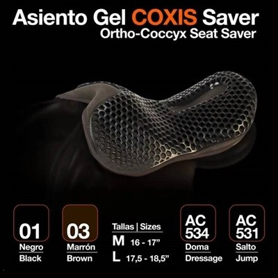 ASIENTO GEL COXIS SAVER DOMA NEGRO L