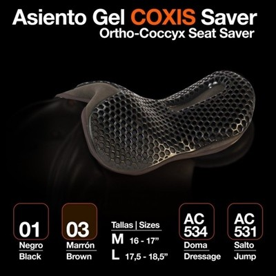 ASIENTO GEL COXIS SAVER DOMA NEGRO M