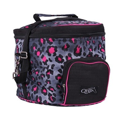 BOLSA CASCO IMPERMEABLE QHP COLLECTION PINK LEOPARD