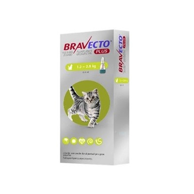 BRAVECTO GATO PLUS XS 1.2 KG   2.8 KG 112.5 MG 1 PIPETA