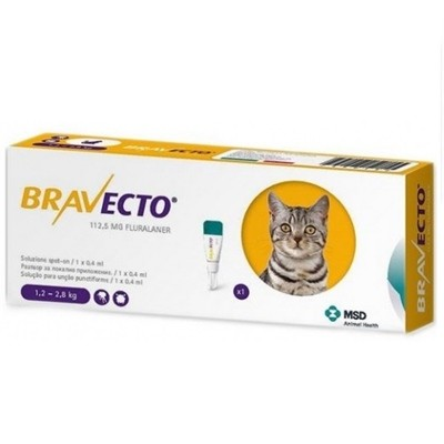 BRAVECTO GATO SPOT ON 112.5MG (1.2 2.8)  1 PIPETA