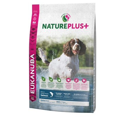 EUK PERRO NATURE   ADULTO RAZA MEDIANA SALMON 10 KG