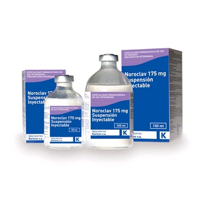 NOROCLAV 175 MG. SUSP. INY. 100 ML.