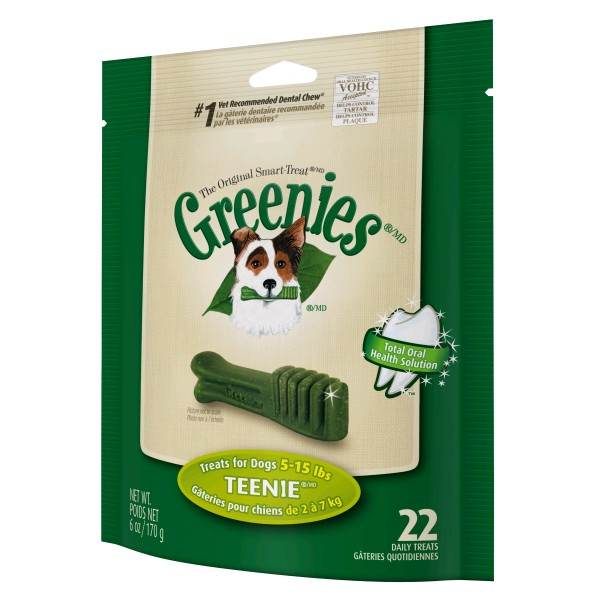 GREENIES PACK 170 GR. TEENIE CAJA 6 X 22 UNDS.