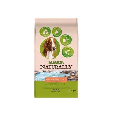 IAMS PERRO NATURALLY SALMON Y ARROZ 2.7 KG.
