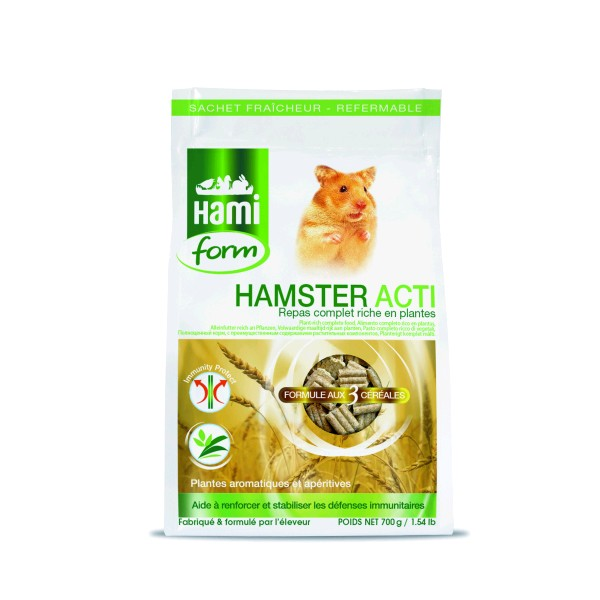 HF COMPLET HAMSTER ACTI 700 GRS.
