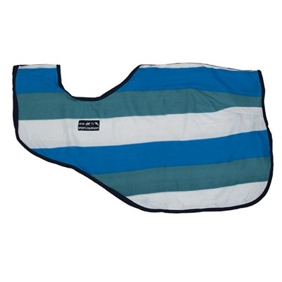 MANTA RIÑONERA FASHION STRIPES II 8001 AQUA SKY BLUE WOLL 145
